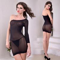 Lenceria Sexy Women Fishnet Body Stocking Black Mesh Lingerie Bodysuit Nuisette Sexy Women Night Dress Sleepwear Babydoll B32