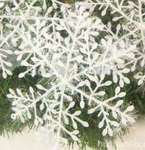 11 cm en plastique blanc de flocon de neige pour noël arbre fenêtre Showcase décoration cadeau parti ornements X15(China (Mainland))