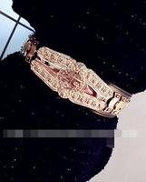 Europe and the United States Figure vines carved golden metal buckle belt joker gas field Fan pink women belt belts for women