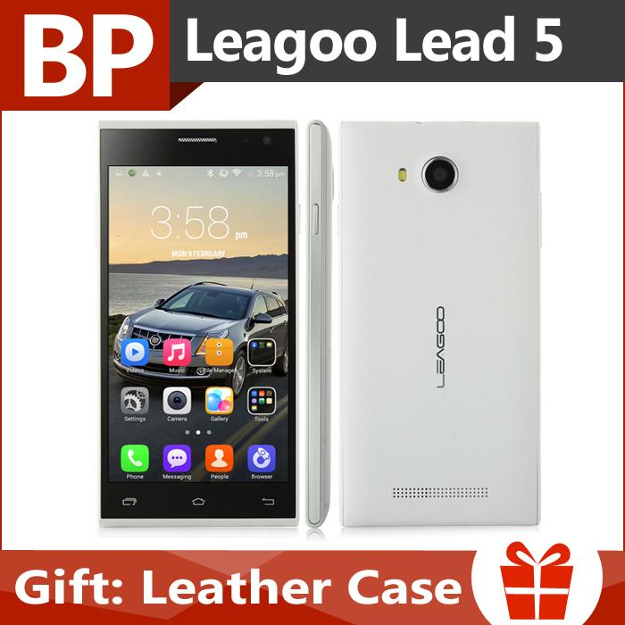 Originale leagoo piombo 5 5 pollici IPS 854x480 mtk6582 quad core android 4.4 di telefonia mobile 1gb ram 8gb rom 8mp gps wifi 3g in magazzino