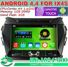 "8"" Android 4.4 Car PC For Hyundai IX45 Santa Fe 2013 2014 CPU 1.6GHz DVD GPS DVR 3G WiFi + Capacitive Screen Resolution 1024*600(China (Mainland))"