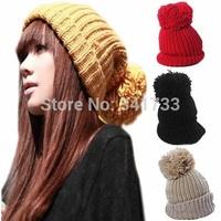 new vogue Beret beanie womens hats caps Winter Skull Chunky Baggy Knitting Cap Warm  Beanies Crochet Ski Hat skullies,CTL