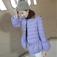 Winter women's 2014 outerwear single breasted diamond women's cotton-padded jacket cotton-padded jacket short wadded jacket