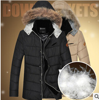 Long section of thick warm slim men's fashion down jacket N0115