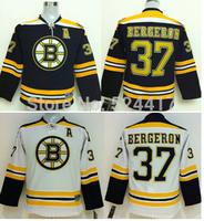 Youth Free shipping stitched 2014 #37 Patrice Bergeron ice hockey Jerseys