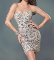 Tulle Fabric vestido de festa longo 100% Handwork Sweetheart Dress Party Evening Elegant OL102428