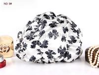 Women Satin with 100% EVA inner waterproof  double layer shower caps Hote/cometic gift's bonnet  hair spa hat bath cap HOT SALE