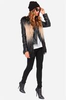 2014 Limited Freeshipping Faux Fur High Waist Regular V-neck Open Stitch Standard Fur Coats New Animal Fur Sleeveless Vest