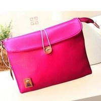 Promotion 9 Colors New 2014 Fashion Women Handbag PU Leather Women Messenger Bags Candy Color Bag For Women