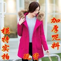 2015 new  woolen double breasted outerwear medium-long women outerwear overcoat women winter coat  thick  women clothing