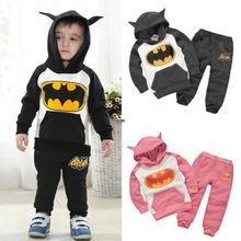 Costume Kids Boys Girls Batman Top Hoodie Sweatshirt Suit Outfits Set Clothes UK(China (Mainland))