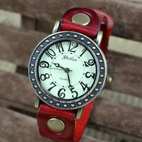 2014 New European Style Fashion Watch Leather Retro Arab Numerals Man / Woman Quartz Watch Free Shipping Christmas Gifts