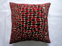 Cutting Velvet Stones Cushion Cover/Pillow Case/Pillow Cover in Red