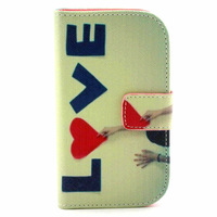 Love Style Wallet stand case For Samsung Galaxy S Duos s7562 7562 Flip Leather Back Cover with card slots