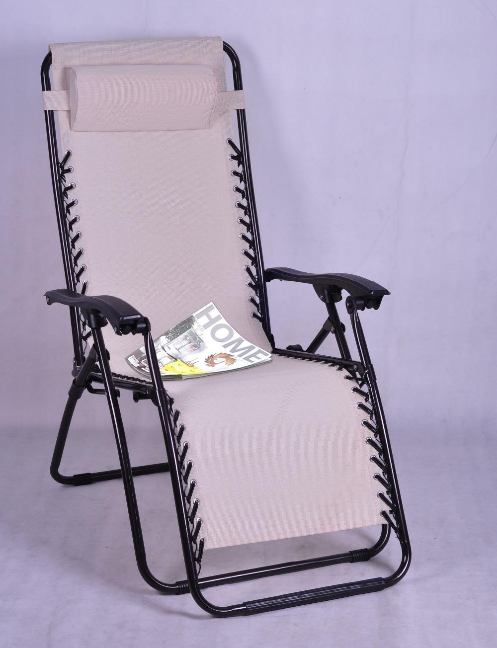 Venda quente interior e exterior Furnitue preto / bege Loire Zero cadeira gravidade reclinar espreguiçadeira cadeira Folding Chair Metal(China (Mainland))