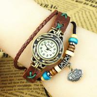 5 Colors New Fashion Brand Handmade Rope Bracelet Women Watch YULAN Hand-Woven Long Life LOCK  Watch Ladies Quarzt Watch