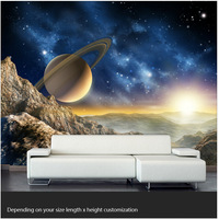 Free shipping custom large living room bedroom sofa TV background wallpaper mural painting star space