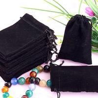 20X Black Velvet glasses Drawstring Jewelry Gift Bags Pouches HOT