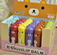 12pcs/lot  2014 brand new easily bear lip balm for baby lips smacker maquiagem