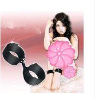 2014Hot sale,adult's Naughty Black Nylon Bondage Velcro Binding Wrist Or Ankle
