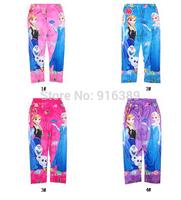 Wholesale-Baby Girls Frozen Leggings Kids Frozen Pants 3-10 Year Girl Frozen Leggings