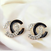 NO Mini Order.simple and stylish.round favorite design.beautiful  popular stud earrings.bijoux jewelry.C005