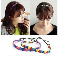 fashion  fashion handmade triangles elastic hairbands headband hair accessories 1 pcs