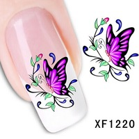 30 Packs 3D Nail Art Stickers Decals For Nail Tips Supplies Decoration Butterfly Design shipping wholesale 1220