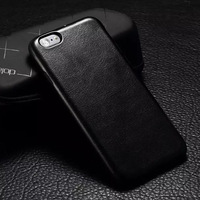 Luxury Black Leather TPU Case Cover Protective Shell Skin Case For Apple iPhone 6 4.7''