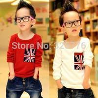 2014 New HOT Children's T-shirt Baby boy long sleeves T shirts Child Children's Clothing cartoon free shipping