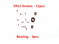 Metal 11pcs Screws + Bearing Spare Parts For 4ch WLtoys V911 V911-1 V911-2 Single Propeller RC Helicopter