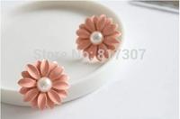 Daisy Flower Stud Earrings Trendy Fashion Women Jewelry Wholesale