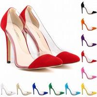 basic high heels pumps shoes woman pointed toe sexy red bottom heel ladies stiletto nude sapatos de salto alto 12 big size 35-42