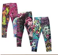 Wholesale-Fashion Girls 6Y-16Y Monster High Leggings Zombie Girl Cartoon Legging Pants Clothing