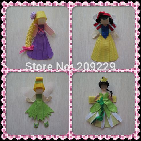 Free Shipping 50pcs/lot Princess Pack #D2 Ribbon Sculpture Wholesale Hair Accessories Girls Hairpins Hairclips Headbands(China (Mainland))