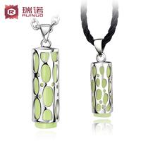 925 silver neon stone female necklace lovers accessories fashion male pendant male necklace