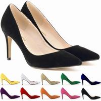 2014 Pointed toe classic women pumps flannel pumps women shoes high heel stiletto pumps zapatos de tacon 12 colors size 35-42