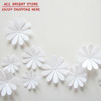 12Pcs/Lot PVC 3D Decorative White Flower Wall Stickers For Kids Room Wall Decal Papel De Parede Infantil Vintage Home Decor