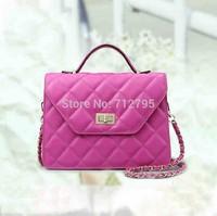 2014 New Winter Classic rhombus metal chain elegant Handbag women's Diamond lattice Genuine leather Shoulder Bag