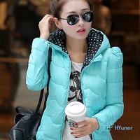 2014 Winter Down Parkas Slim Winter Coat Women  Black Pink Women Winter Jacket Fur Jacket Women