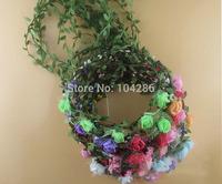 Fashion Bridal Garlands Crown Floral Wedding Headband Flower Crown Hawaii Flower Tiara Crown Free Shipping