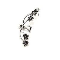 2014 New Fashion Unique Personality European Style Rhinestone Embellished Flowers Pattern Single Earring