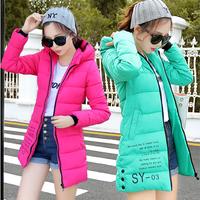 Female medium-long down coat thickening slim plus size mm2014 winter outerwear women's yrf