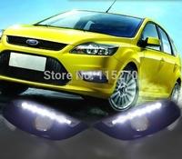 Car Daytime Running Lights LED DRL Daylight  for Focus Sedan 2008-2011 (Pack of 2)