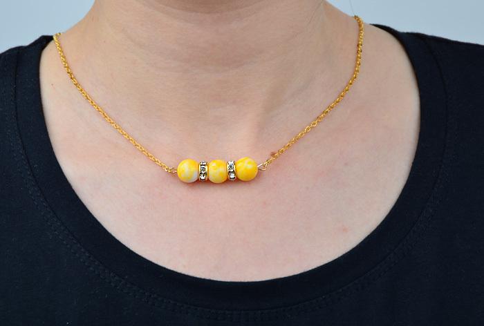 Antique yellow Bead Necklace pendant Handmade Beaded Jewelry Retro Short Boho body jewelry gift for wife girl friend onsale(China (Mainland))