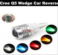Wholesale T10 W5W 7W LED Cree Q5 Wedge Car Reverse Backup Light Lamp Bulb DC12V 200PCS/lot