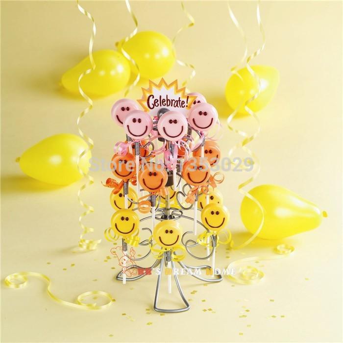 2014 New Swirly Lollipop Holder Cake Pop Holder Lollipop Stand Display Stand 3-Tier Holding 18 Cake Pops(China (Mainland))