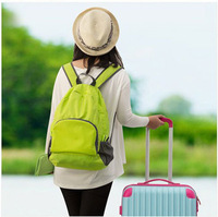 Lady business travel folding backpack outdoor multifunctional backpack money bag