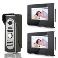 "Wired 7"" TFT LCD Video Door Phone Intercom Home Security Doorbell Monitor Camera,1xcamera+2xmonitor"