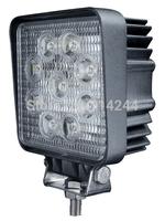 "LED Work Light 4"" Inch 27W 12V 24V Spot Flood Lamp for Motorcycle Tractor Truck Trailer SUV Off roads Boat 4WD"